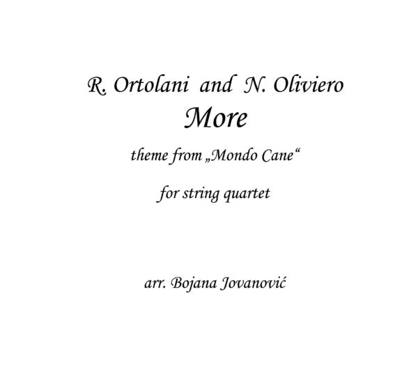 More Riz Ortolani Sheet music
