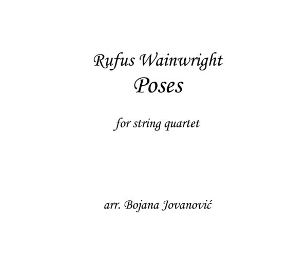 Poses Rufus Wainwright Sheet music