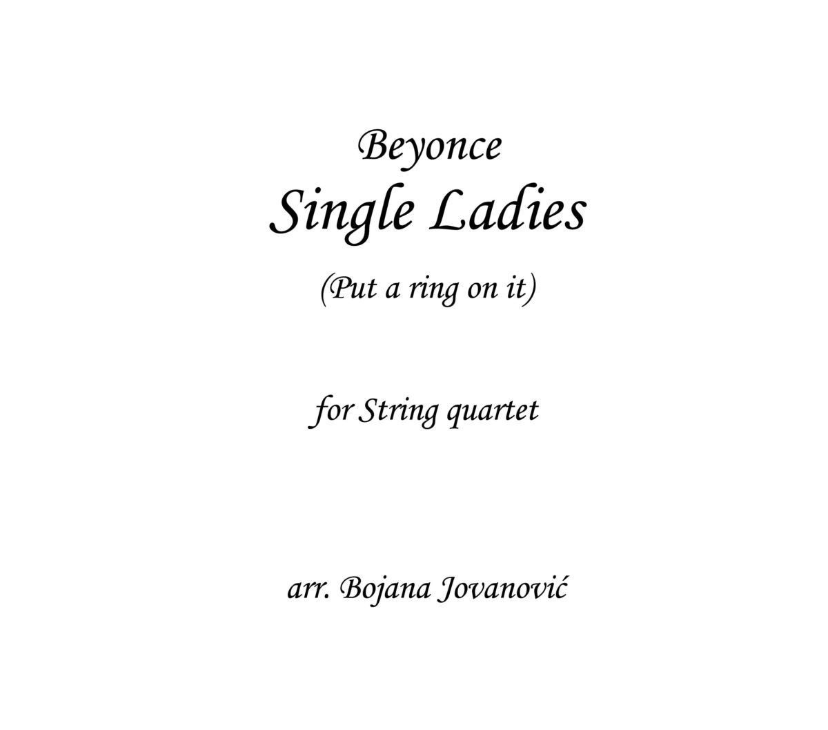 Single Ladies Beyonce Sheet music