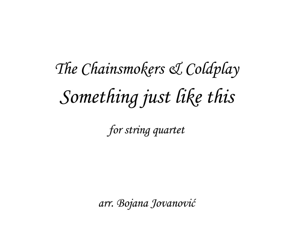 Something just like this The Chainsmokers Sheet music