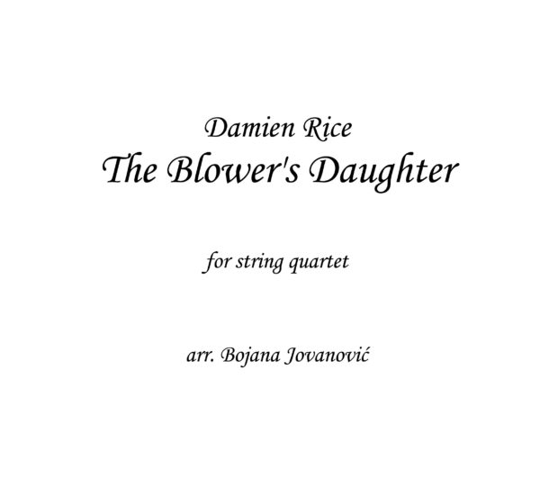 The Blower's daughter Damien Rice Sheet music