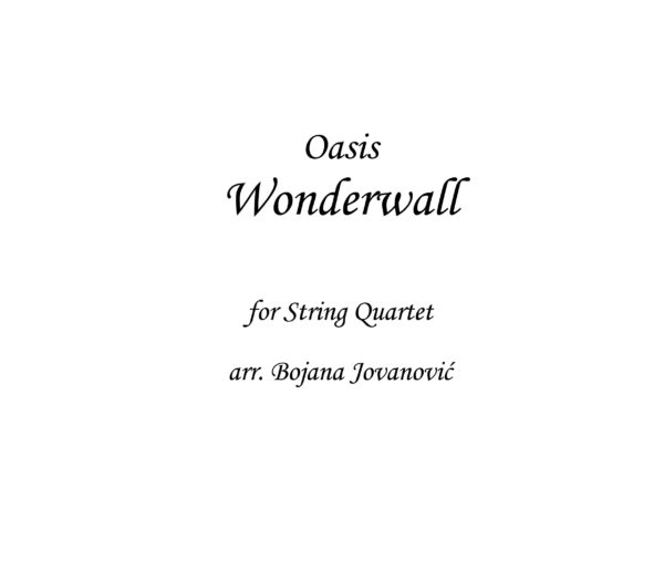 Wonderwall Oasis Sheet music