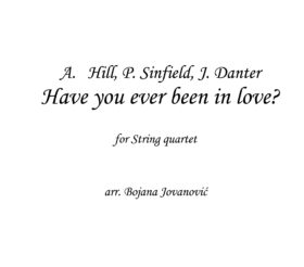 Have you ever been in love Sheet music
