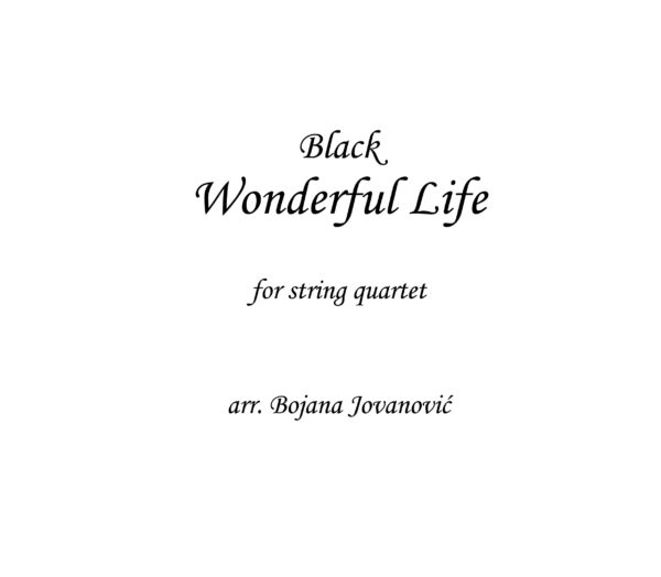 Wonderful Life Black Sheet music