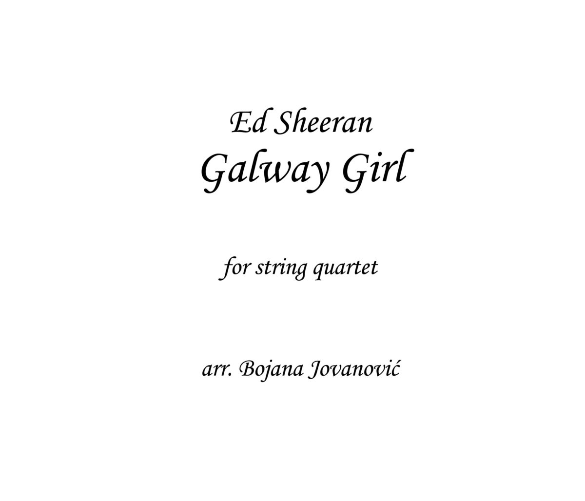 Galway girl Ed Sheeran Sheet music