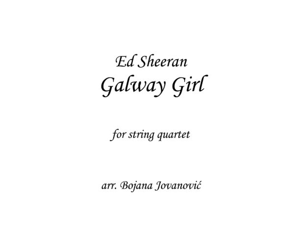 Galway girl Ed Sheeran Sheet music
