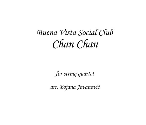 Chan Chan Buena Vista Social Club Sheet music