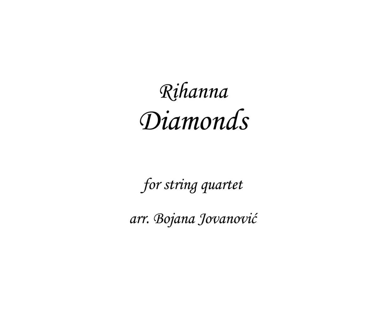 Diamonds Rihanna Sheet music