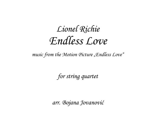 Endless Love Lionel Richie Sheet music