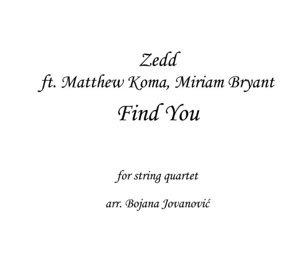 Find you Zedd Sheet music
