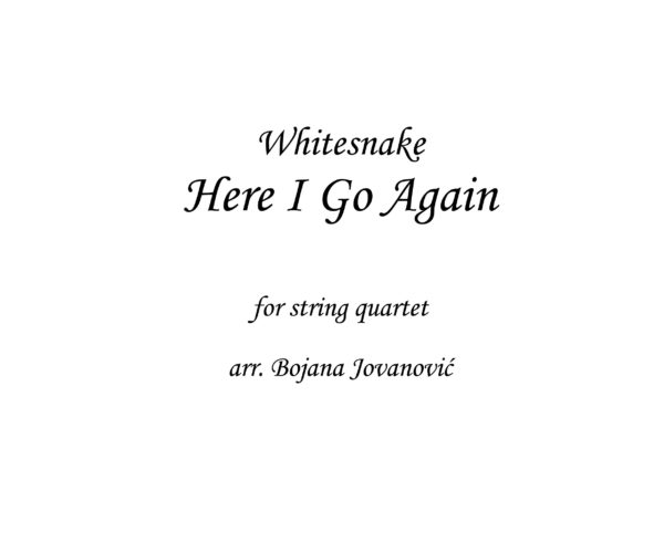 Here I Go Again Whitesnake Sheet music