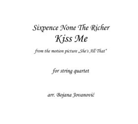 Kiss me Sixpence None The Richer Sheet music