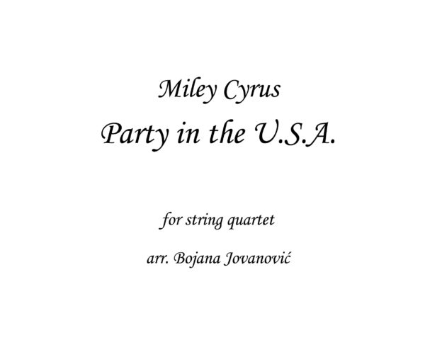 Party in the USA Miley Cyrus Sheet music