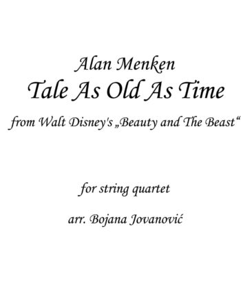 Tale as old as time Beauty and The Beast Sheet music