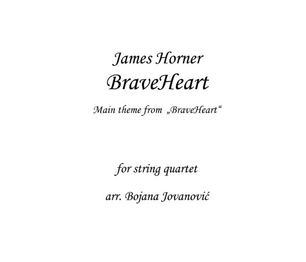Braveheart James Horner Sheet music