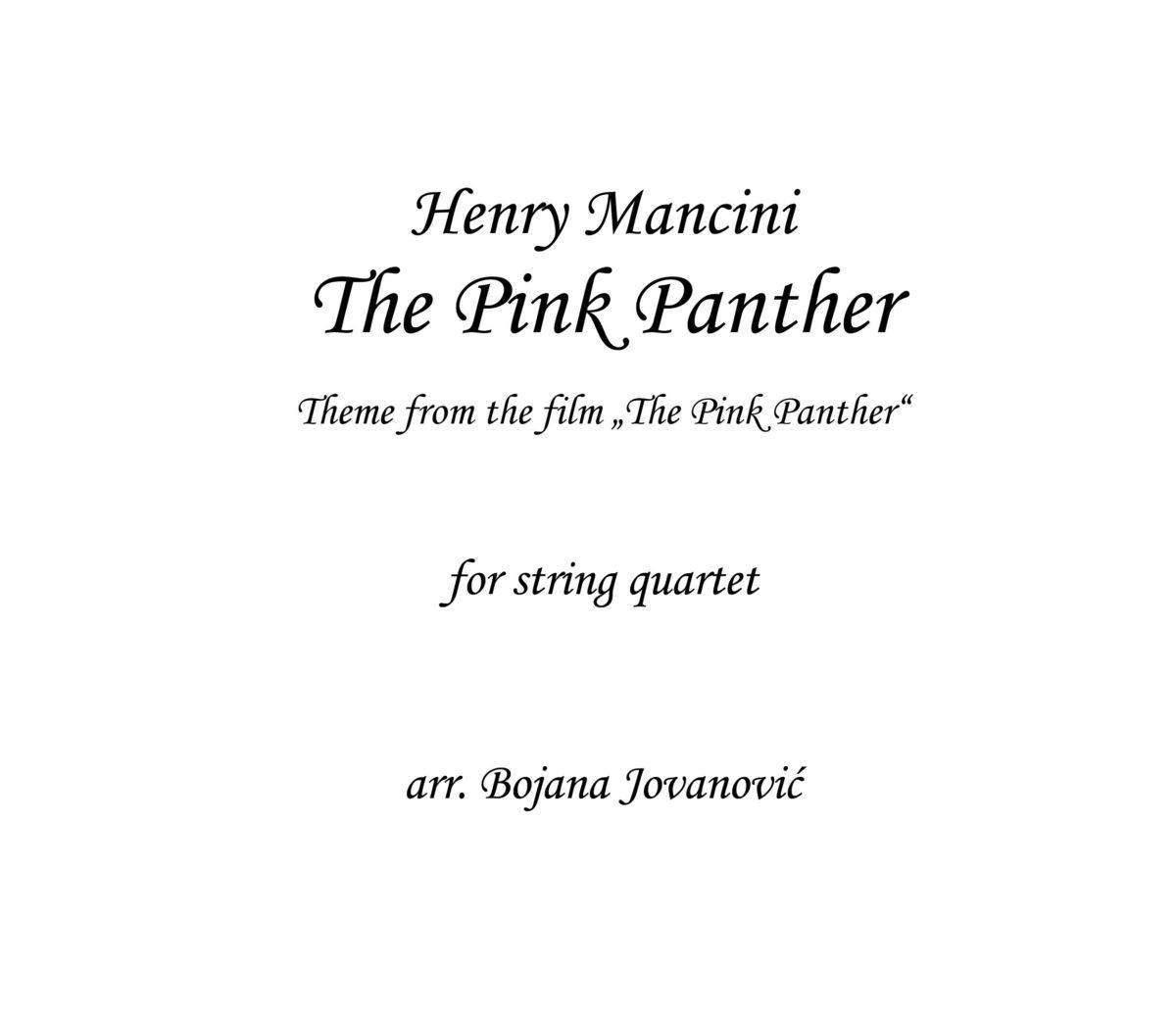 The Pink Panther Henry Mancini Sheet music