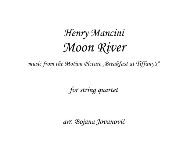 Moon River Henry Mancini Sheet music