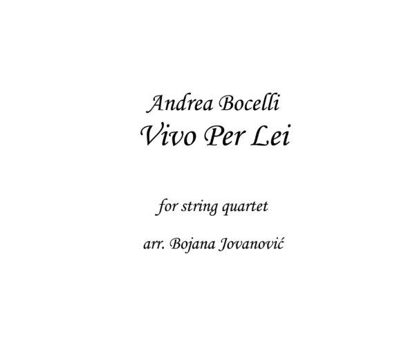 Vivo per Lei Andrea Bocelli Sheet music