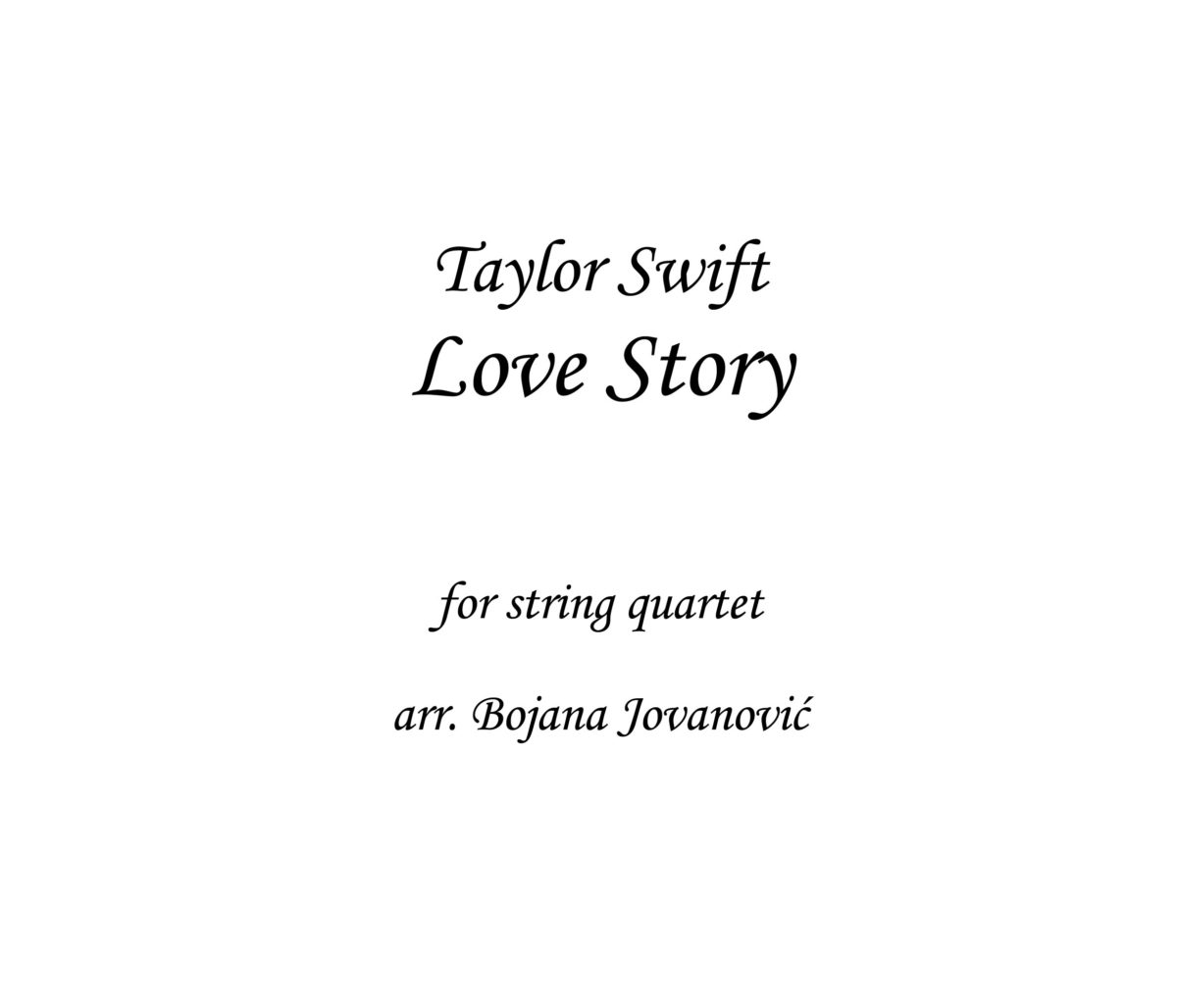 Love Story Taylor Swift Sheet music