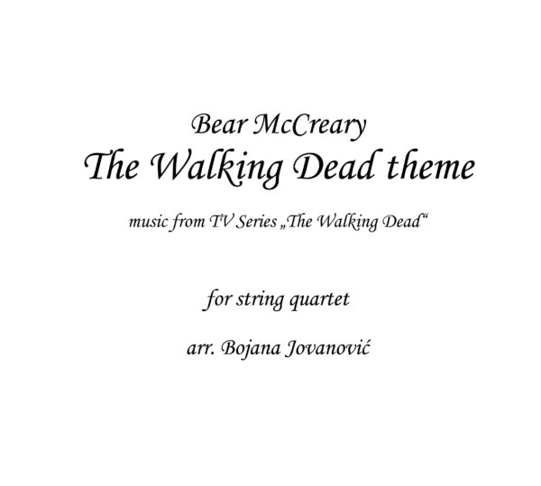 The Walking Dead theme Sheet music
