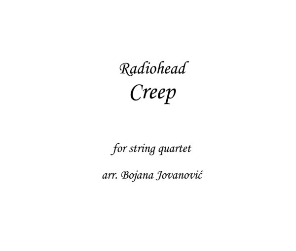 Creep Radiohead Sheet music