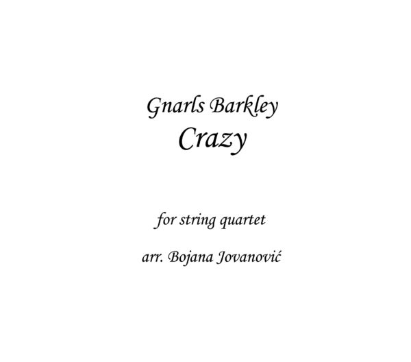 Crazy Gnarls Barkley Sheet music