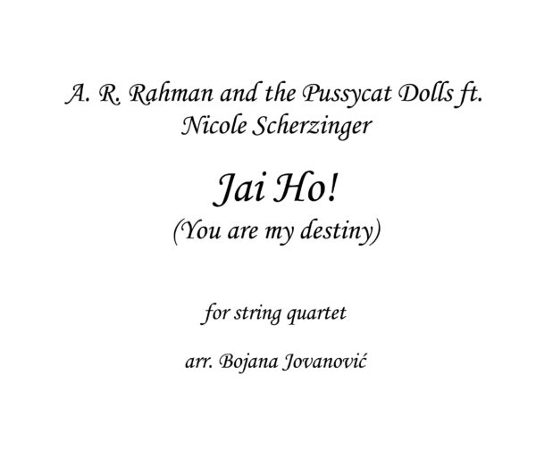 Jai Ho Sheet music