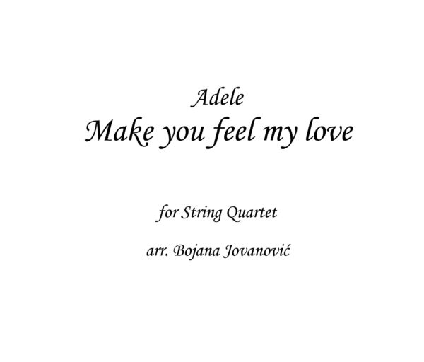 Make you feel my love Adele Sheet music