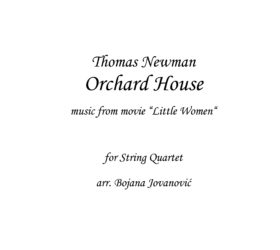 Orchard House Thomas Newman Sheet music