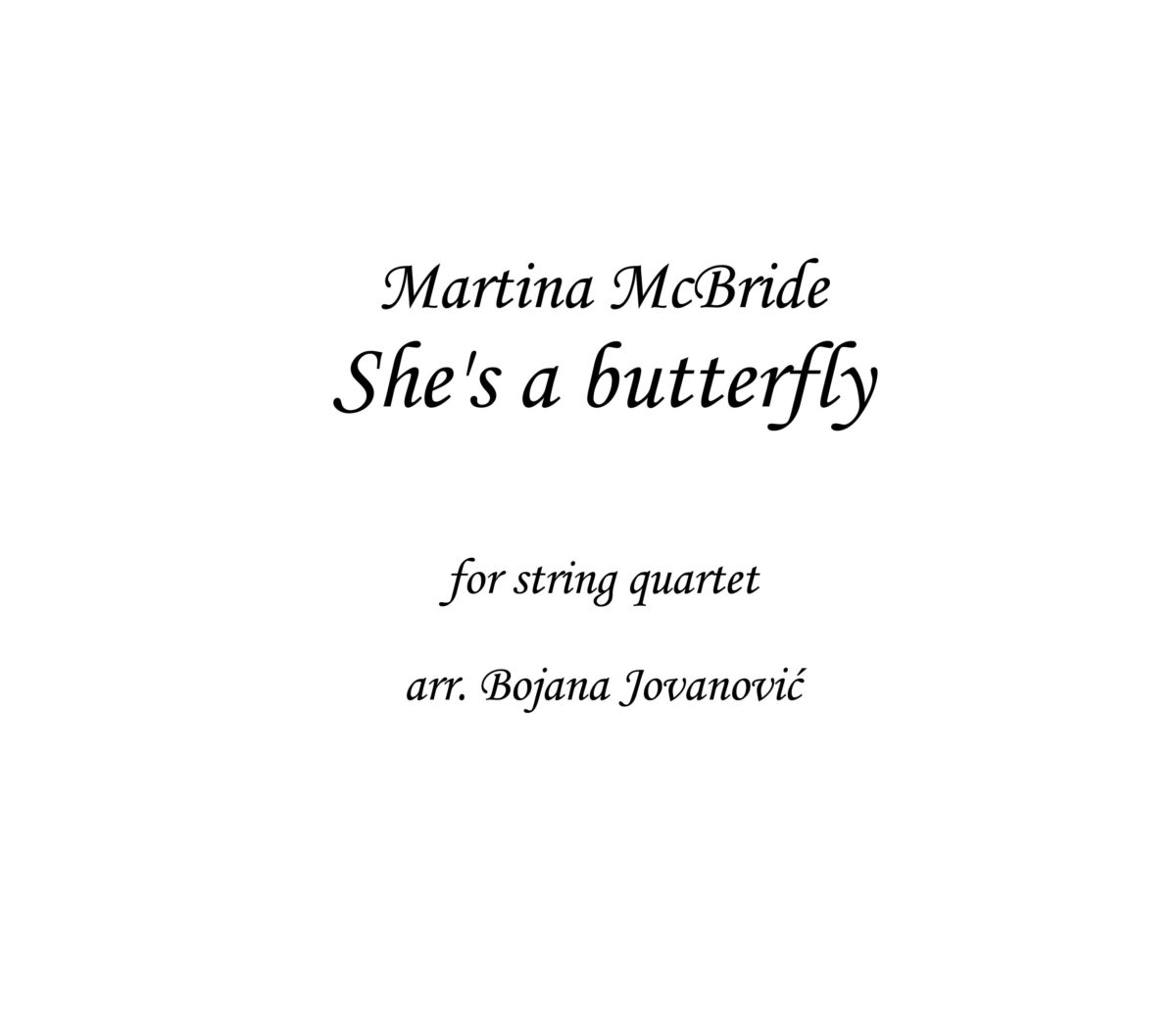 She's a butterfly Martina McBride Sheet music