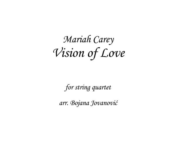 Vision of Love Mariah Carey Sheet music
