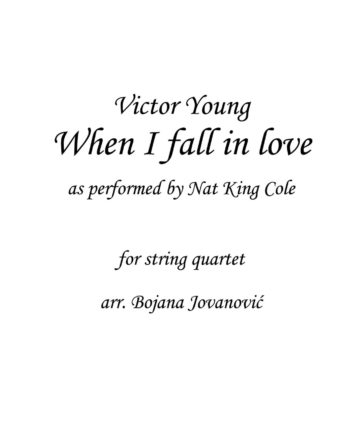 When I fall in love Victor Young Sheet music