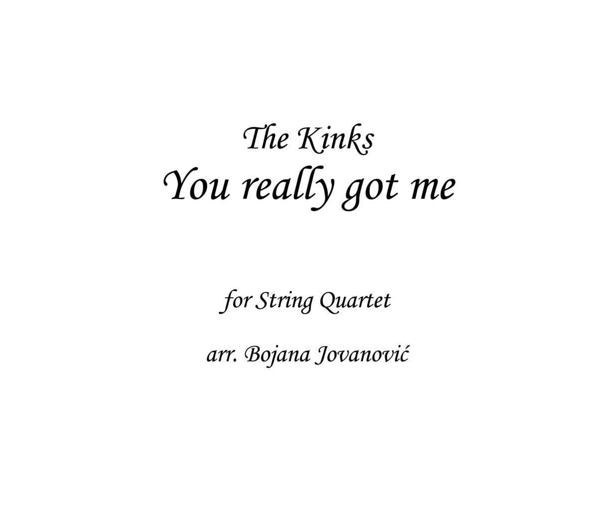 You really got me The Kinks Sheet music