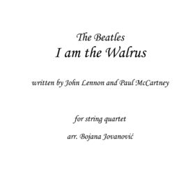 I am the Walrus The Beatles Sheet music