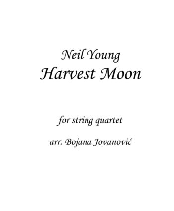 Harvest Moon Neil Young Sheet music