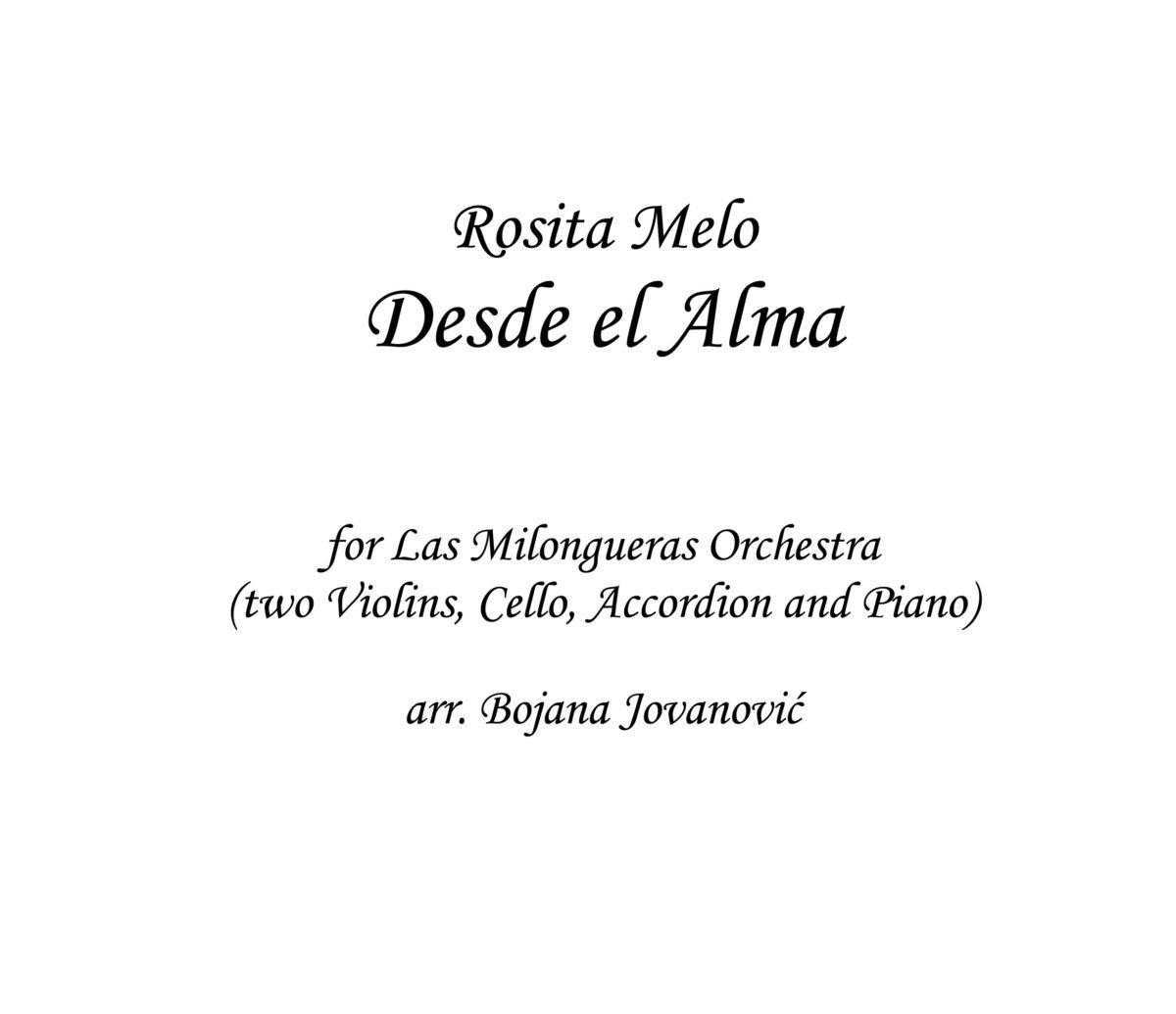 Desde el Alma Rosita Melo Sheet music