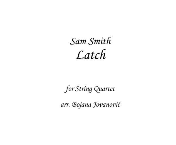 Latch Sam Smith Sheet music