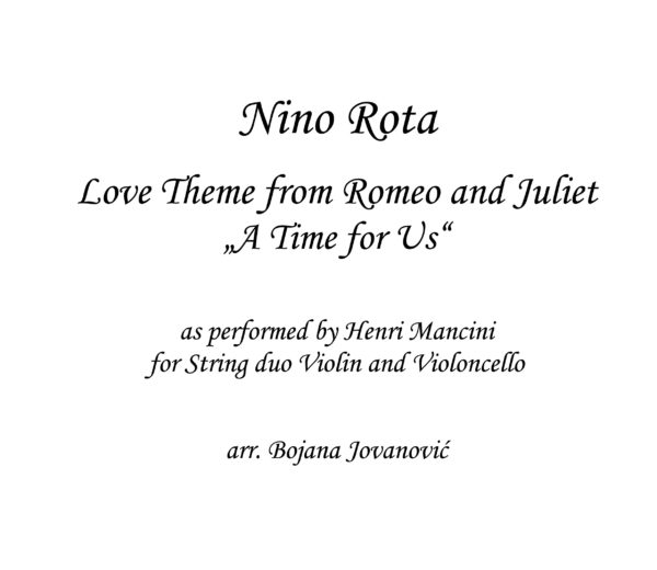 Love theme from Romeo and Juliet Sheet music