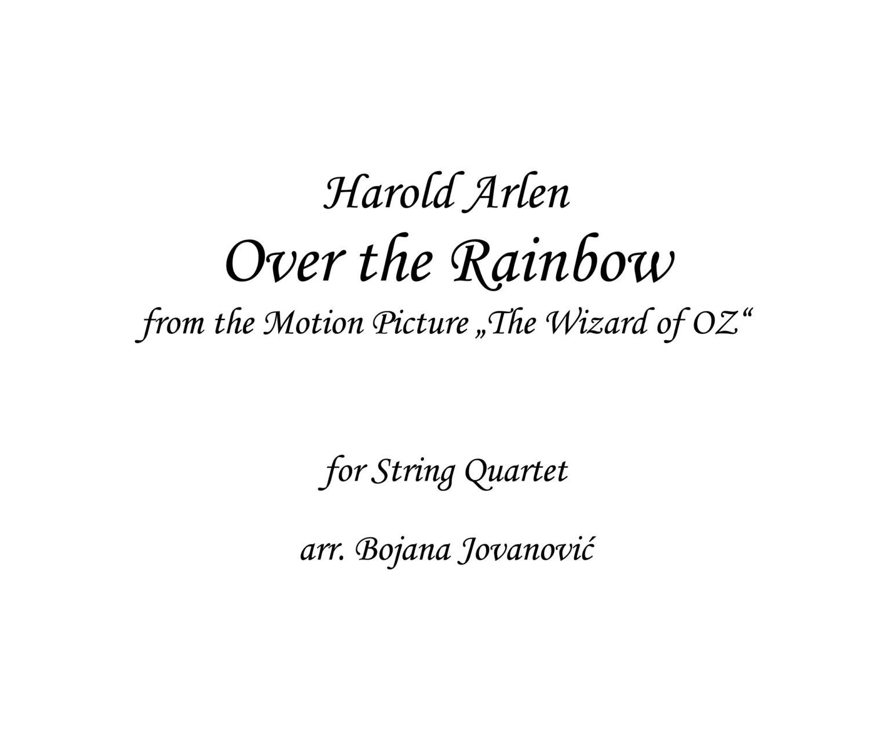 Over The Rainbow Lyrics Sheet Music: Over The Rainbow Harold Arlen Sheet Music