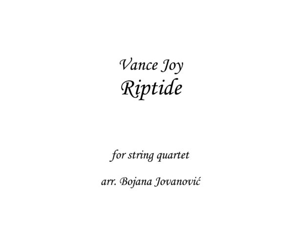 Riptide Vance Joy Sheet music
