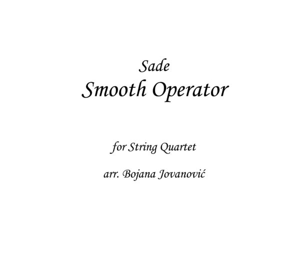 Smooth Operator Sade Sheet music