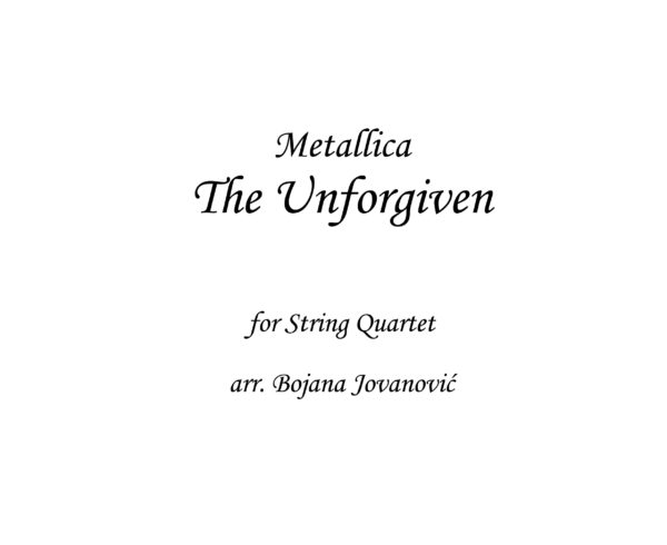 The Unforgiven Metallica Sheet music