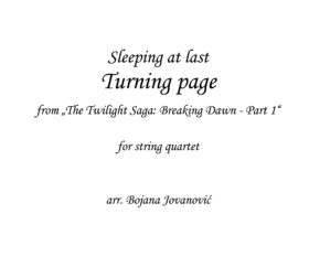 Turning page Sleeping at last Sheet music