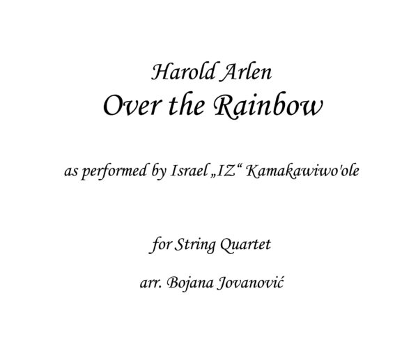 Over the Rainbow IZ Sheet music