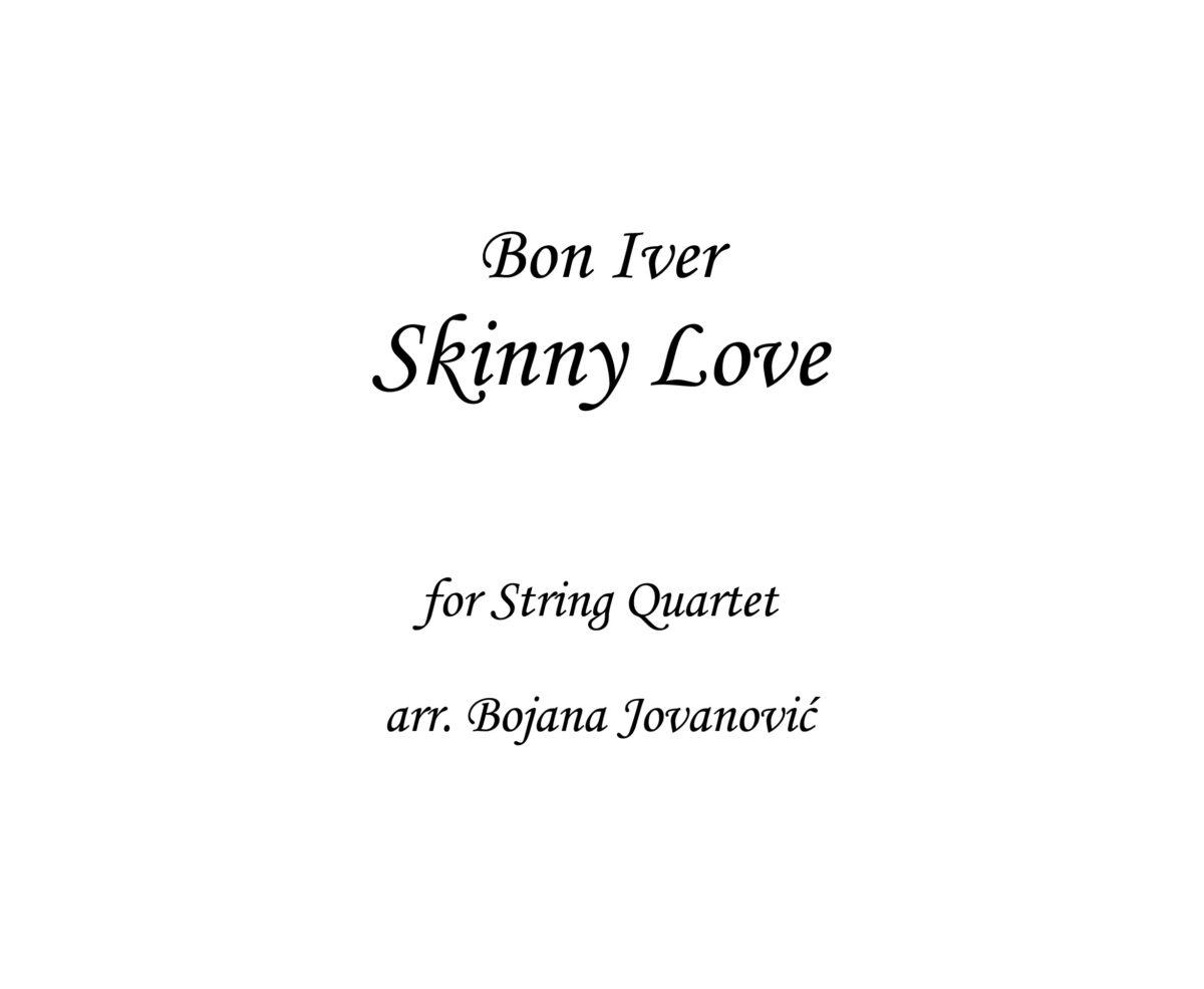Skinny Love Bon Iver Sheet music