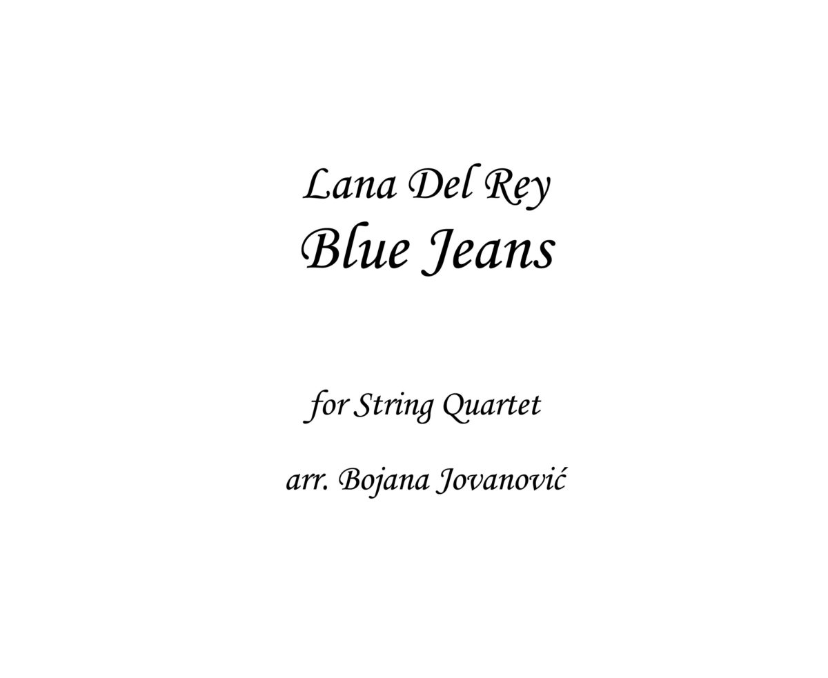 Blue Jeans Lana Del Rey Sheet music