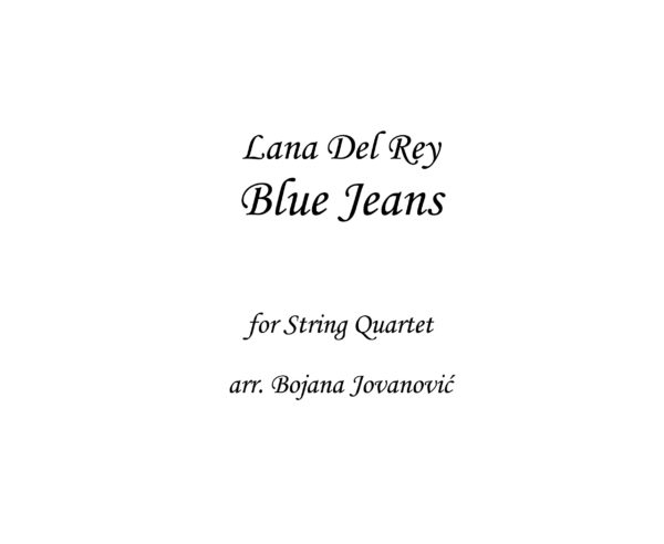 Blue Jeans Lana Del Rey Sheet music