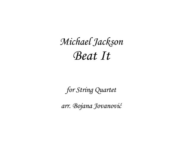 Beat It Michael Jackson Sheet music
