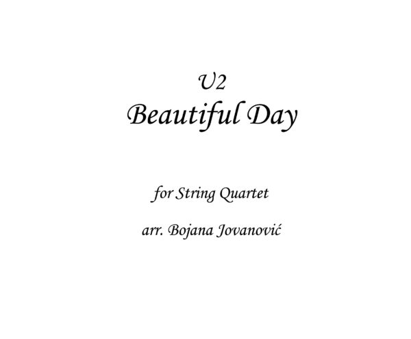Beautiful day U2 Sheet music