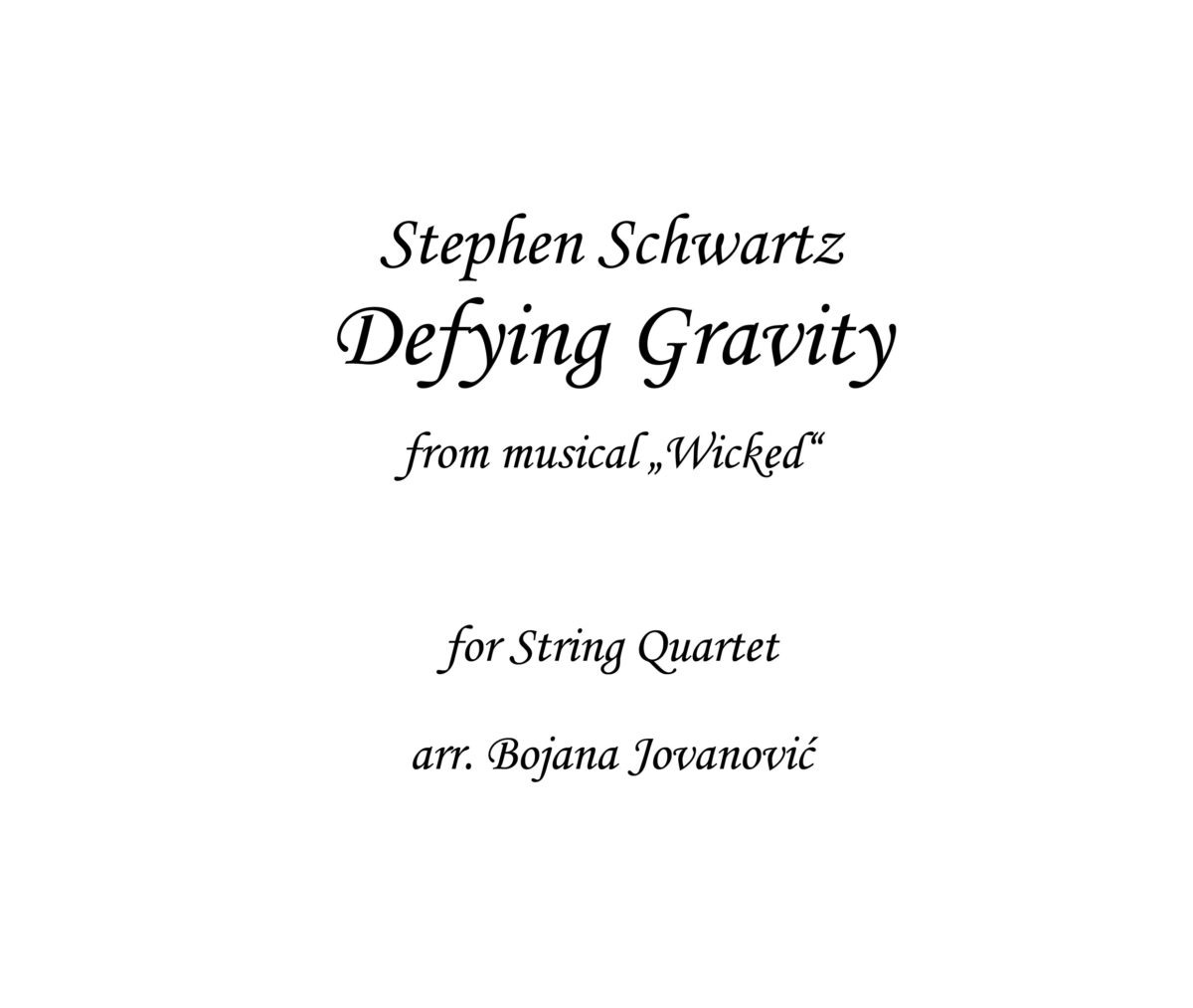 Defying Gravity Sheet music
